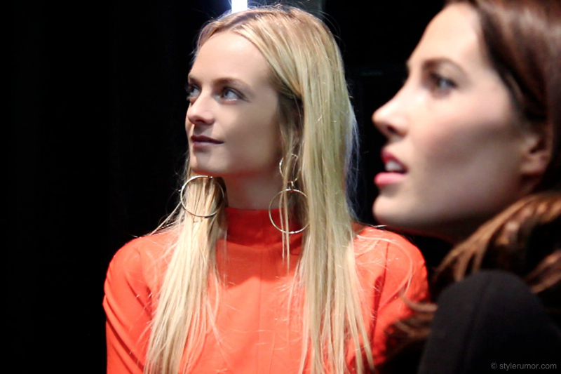 Mugler Fall Winter 2012 Backstage Virginie and Prisca Courtin Clarins