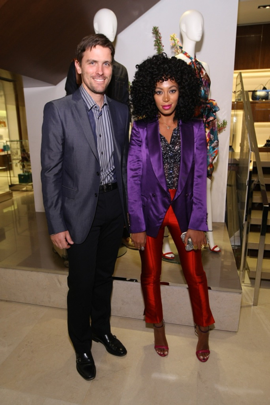Salvatore Ferragamo Fifth Avenue Flagship James Ferragamo and Solange Knowles