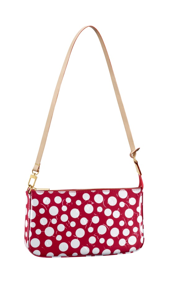 Yayoi Kusama Louis Vuitton Pochette Accessoires Monogram Vernis Dots Infinity red