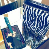 Rob Pruitt x Jimmy Choo Candy Zebra Acrylic Clutch Bag with Gold Chain Strap