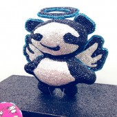 Rob Pruitt x Jimmy Choo limited edition ANGEL panda minaudière clutch
