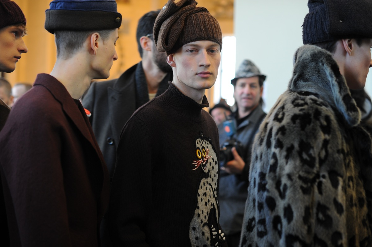 Backstage at The Louis Vuitton Fall Winter 2013 Menswear Show 18