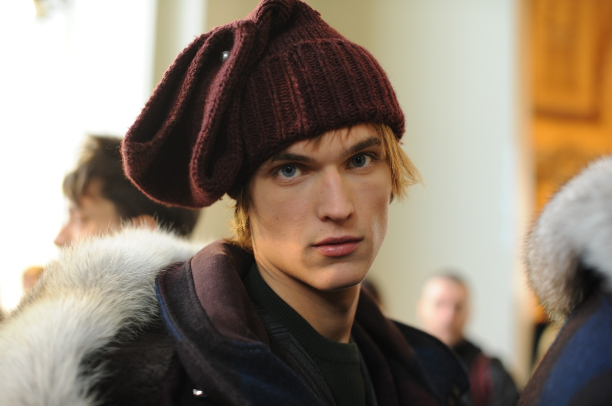 Backstage at The Louis Vuitton Fall Winter 2013 Menswear Show 19