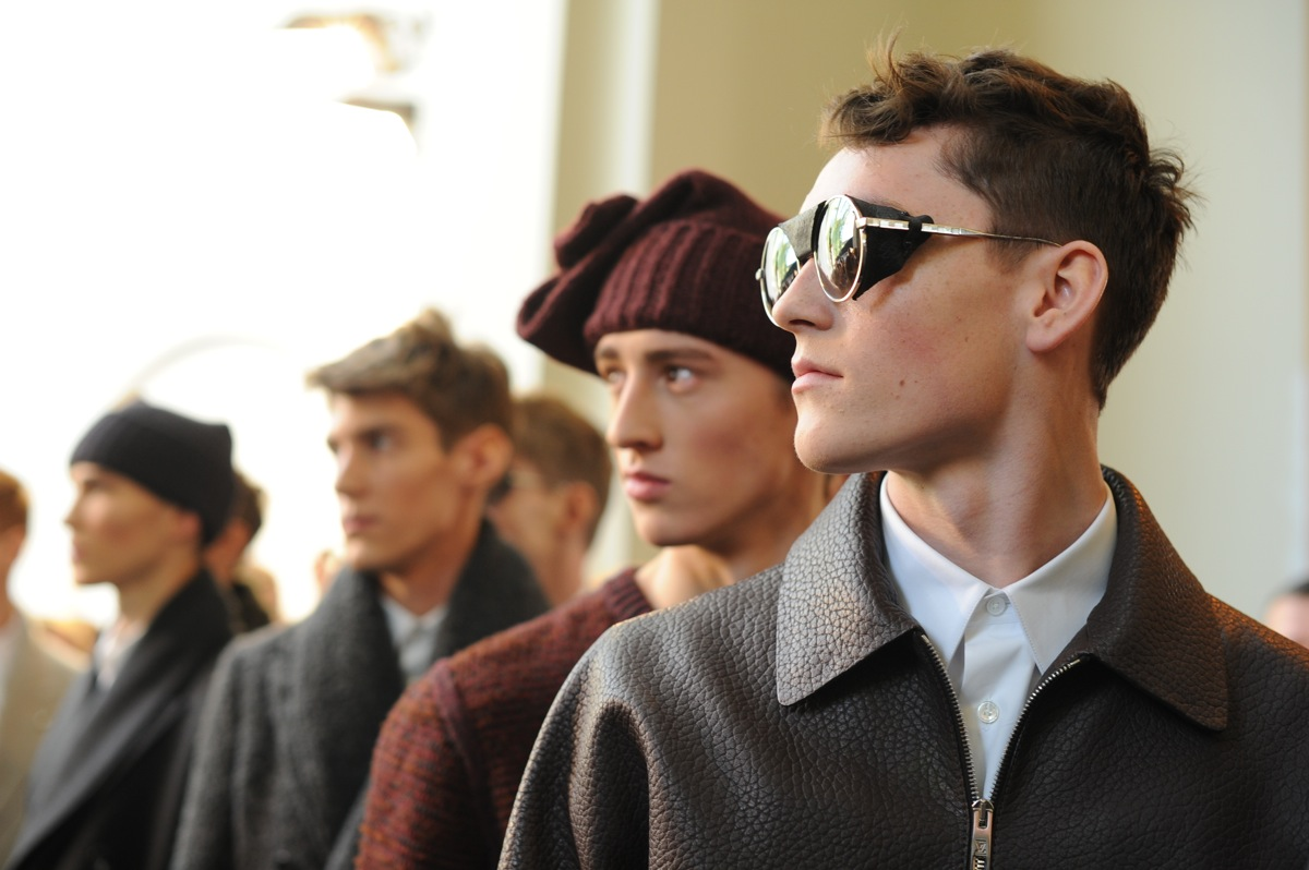 Backstage at The <b>Louis Vuitton</b> Fall Winter 2013 Menswear Show 29
