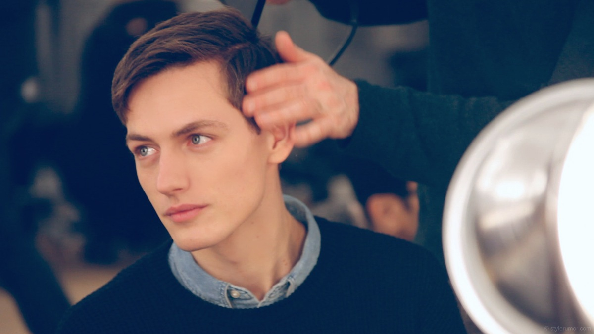 Backstage at Tommy Hilfiger Fall 2013 Menswear 21