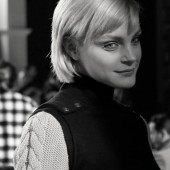 Backstage at Tommy Hilfiger Fall 2013 Menswear Jessica Stam