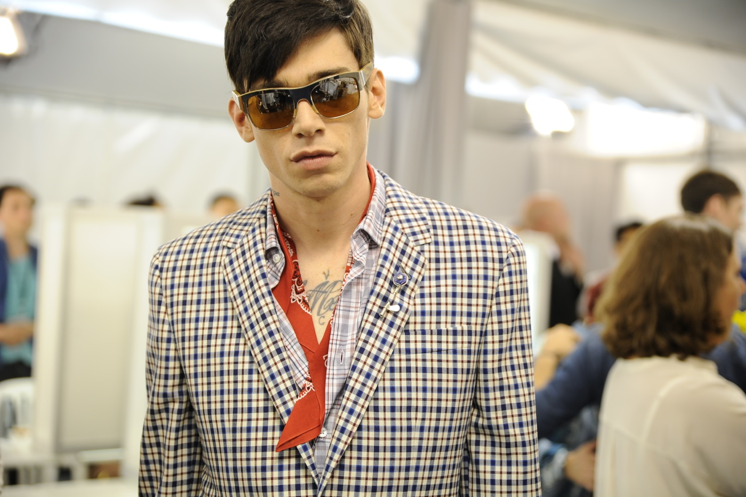 Backstage at the Louis Vuitton Men Spring Summer 2014 Show 16