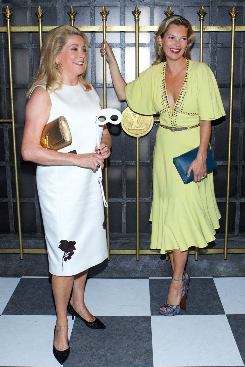 Catherine Deneuve, Kate Moss <b>Louis Vuitton</b> Timeless Muses Exhibition