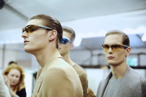 Backstage at Louis Vuitton Menswe