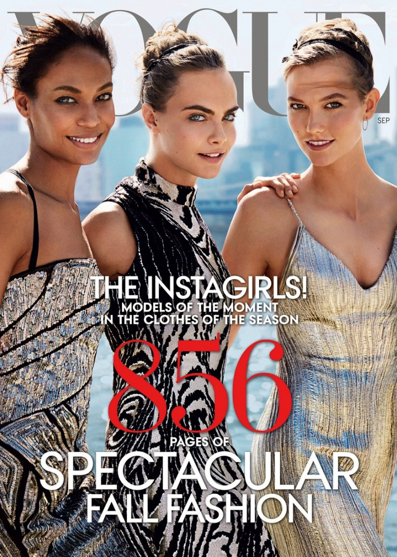 The Instagirls Vogue Supermodel September 2014 Cover 1