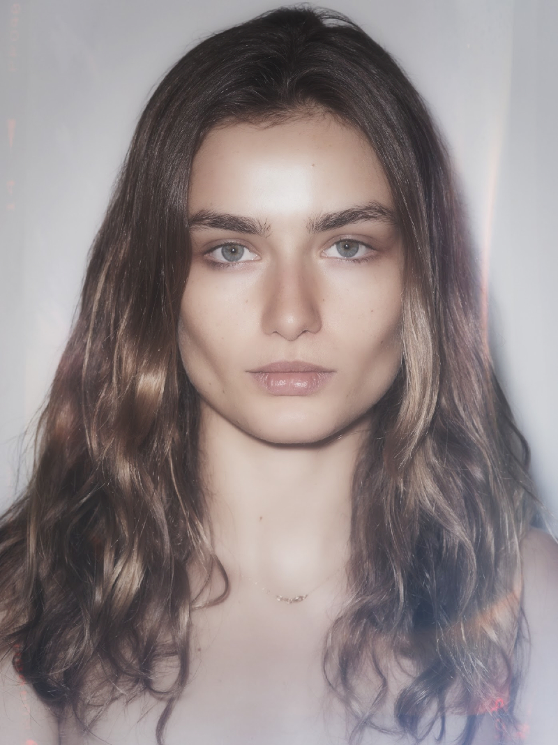 Andreea Diaconu Backstage at the Versus x Vaccarello Spring 2015 Show Hair by Redken 1