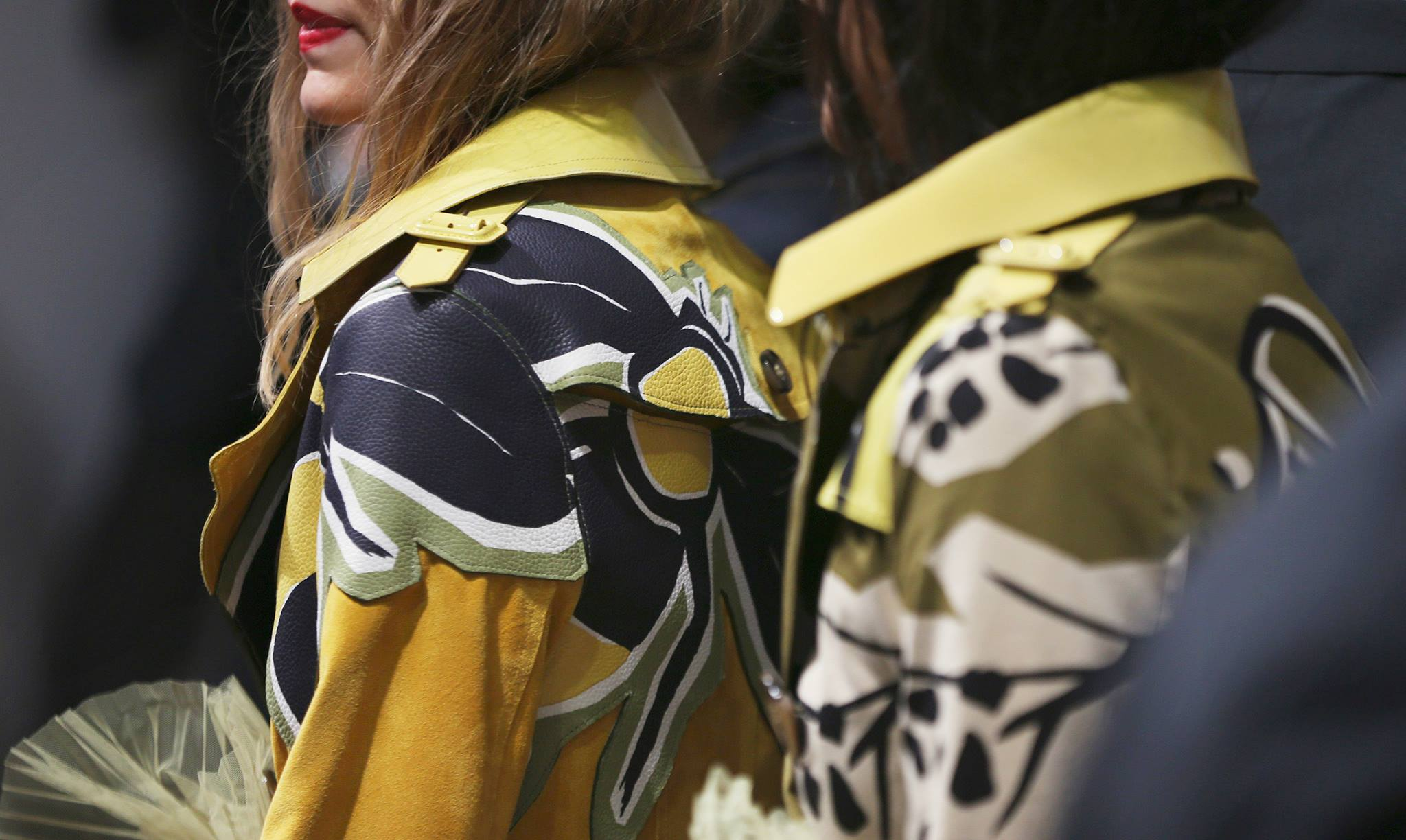 Backstage at the Burberry Prorsum Spring 2015 Show 17