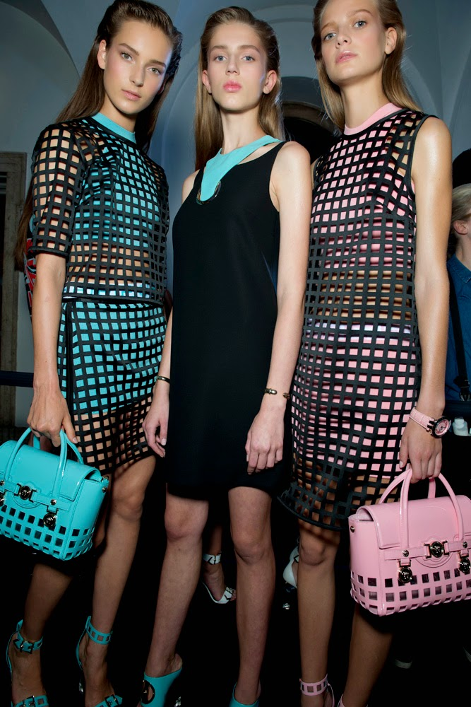 Backstage at the Versace Spring Summer 2015 Show 3