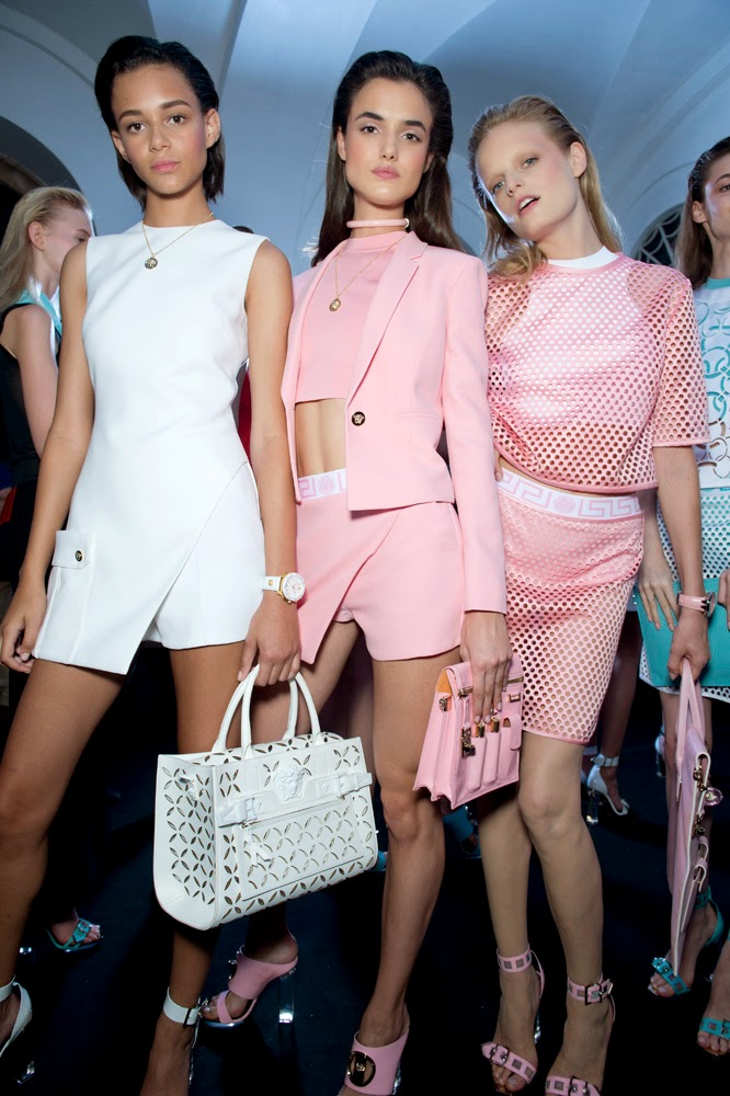 Backstage at the Versace Spring Summer 2015 Show 8