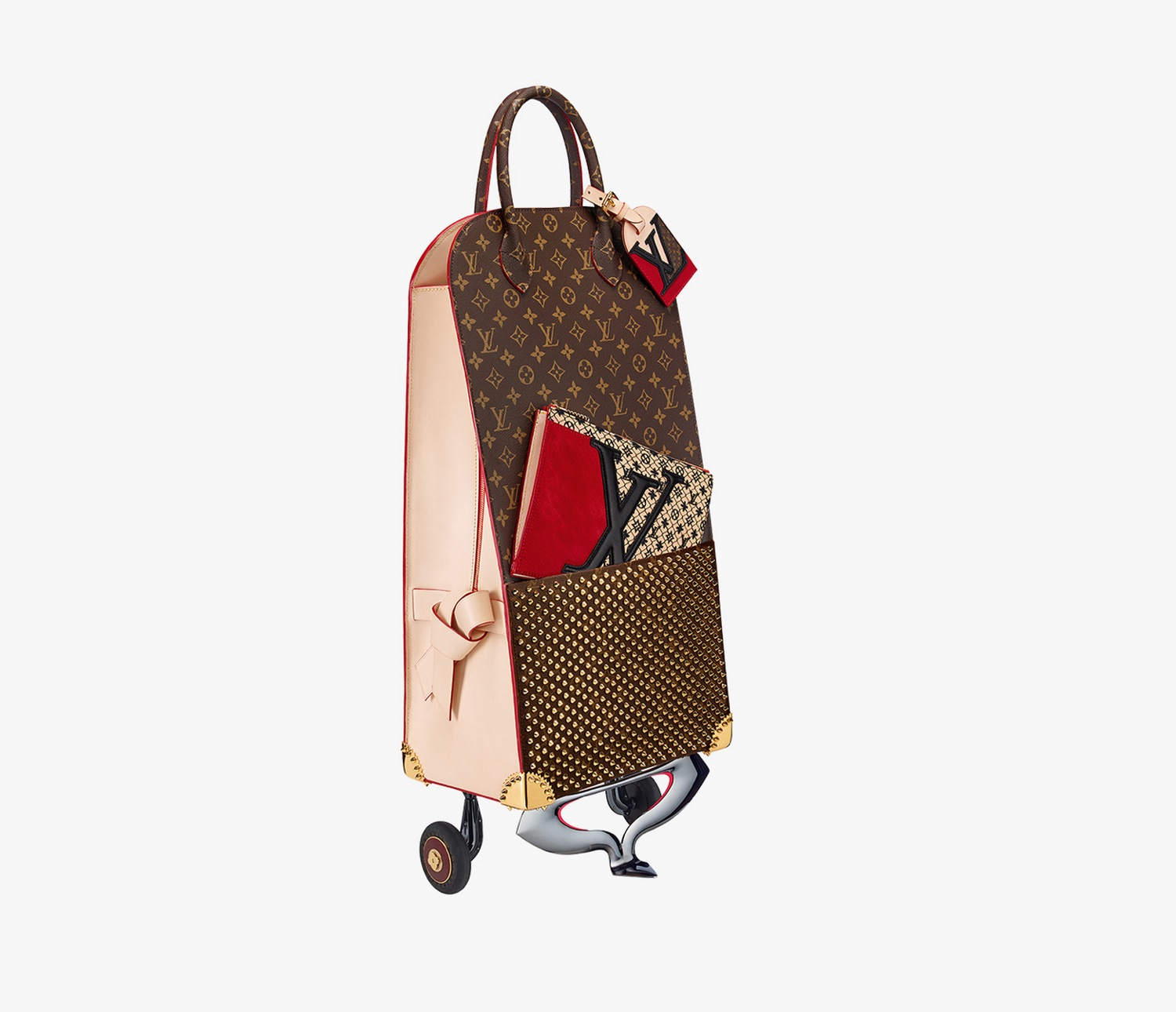 Louis Vuitton Shopping Trolley by Christian Louboutin
