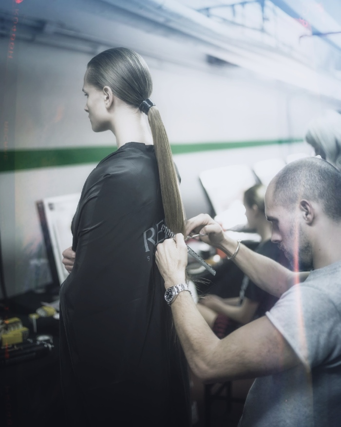 Backstage at Alexander Wang X HM 5