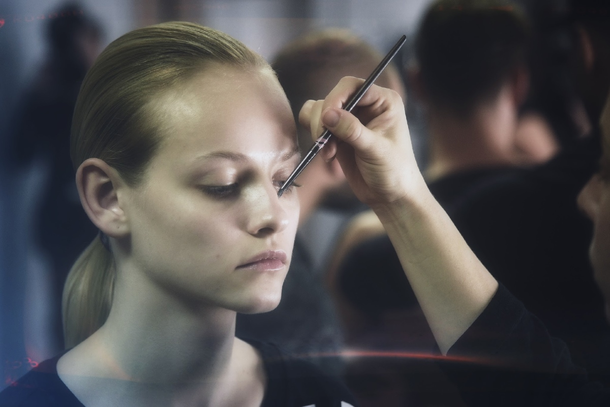 Ginta Lapina Backstage at Alexander Wang X HM 1