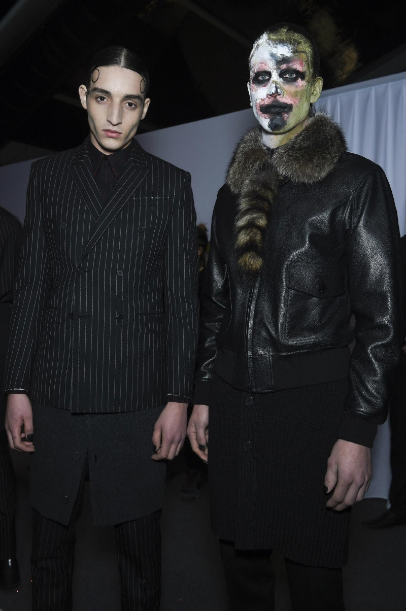 Backstage at the Givenchy Menswear Fall 2015 Show 2