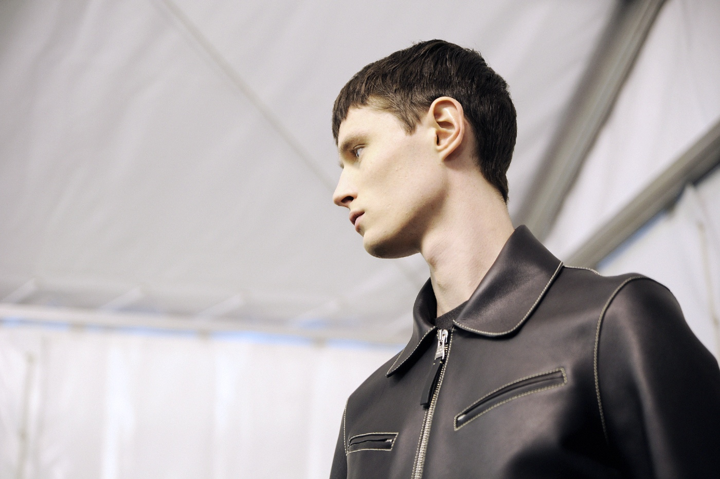 Backstage at the Louis Vuitton Menswear Fall Winter 2015 Show 16