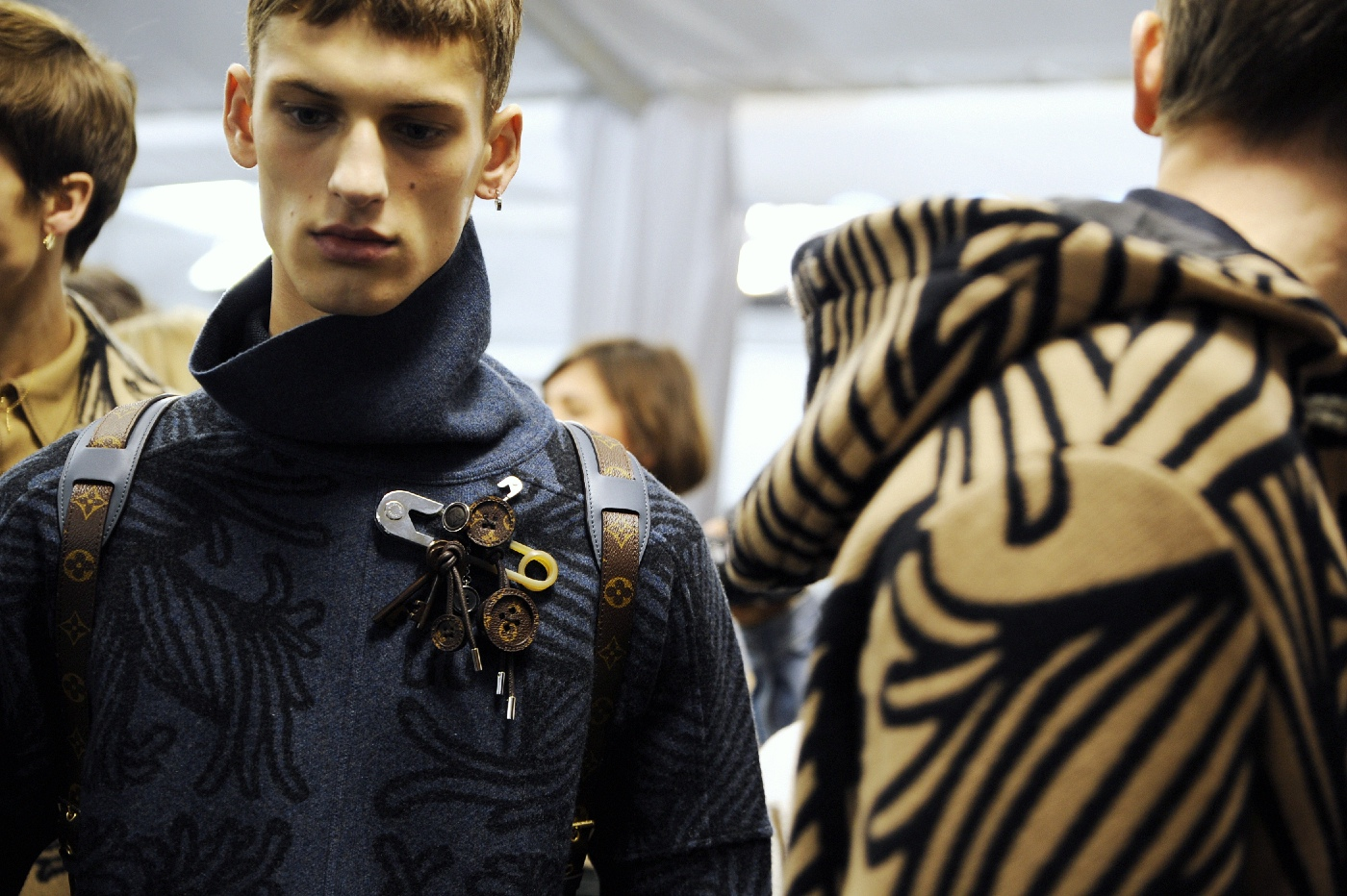 Backstage at the Louis Vuitton Menswear Fall Winter 2015 Show 21