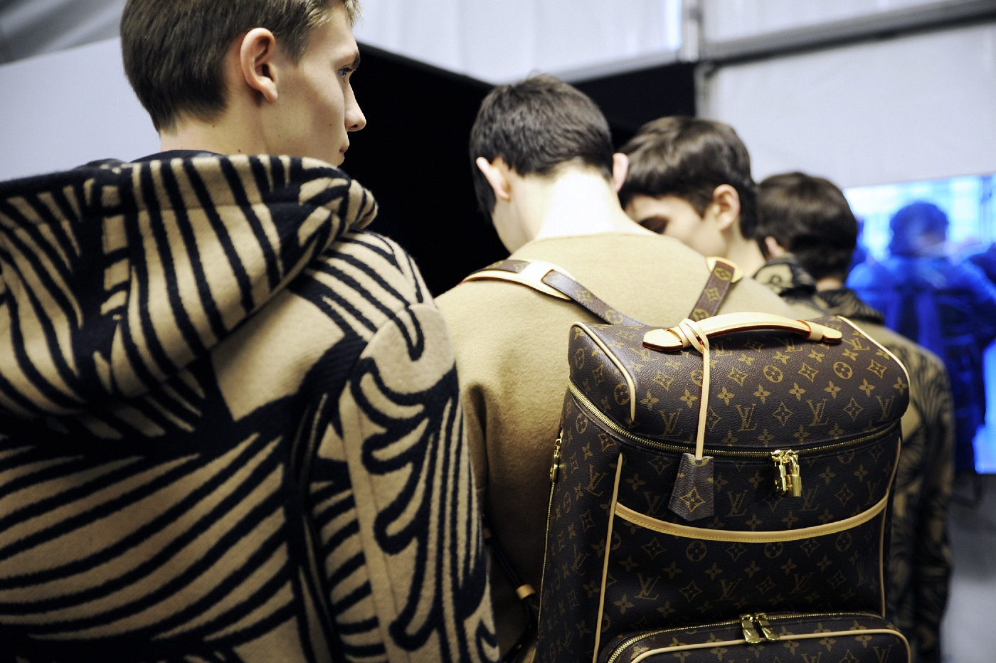 Backstage at the Louis Vuitton Menswear Fall Winter 2015 Show 23