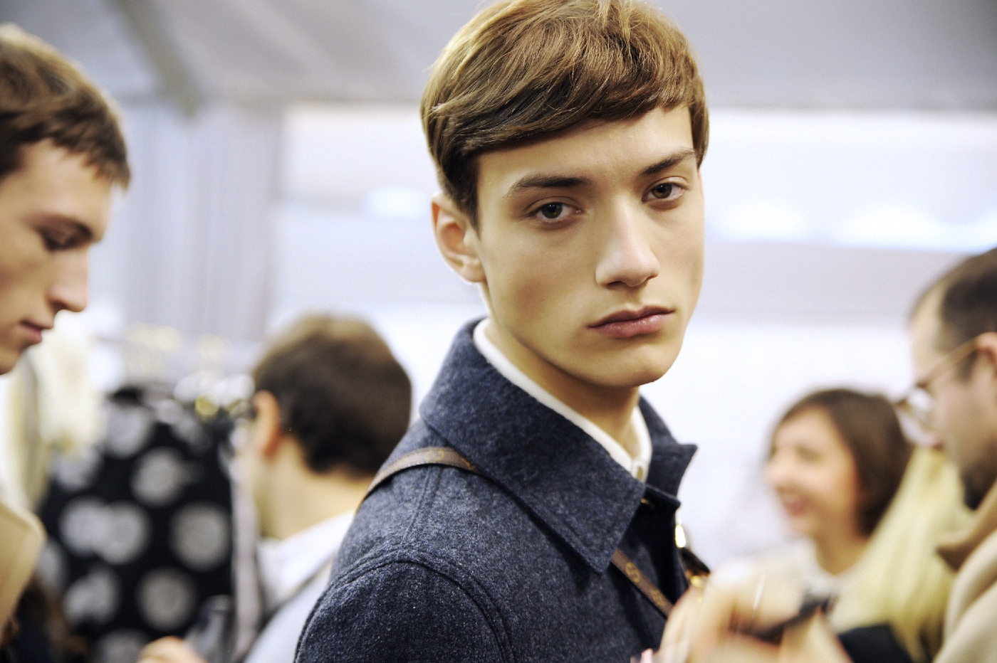 Backstage at the Louis Vuitton Menswear Fall Winter 2015 Show 31