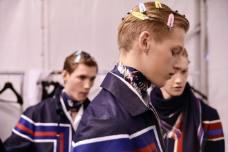Backstage at the Louis Vuitton Menswear Spring Summer 2016 Show 1