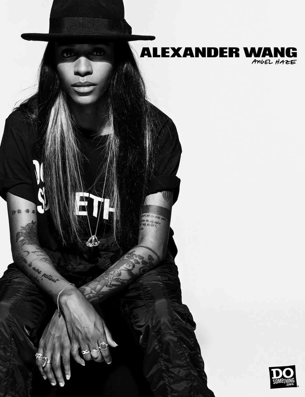 Angel Haze wears Alexander Wang x DoSomething