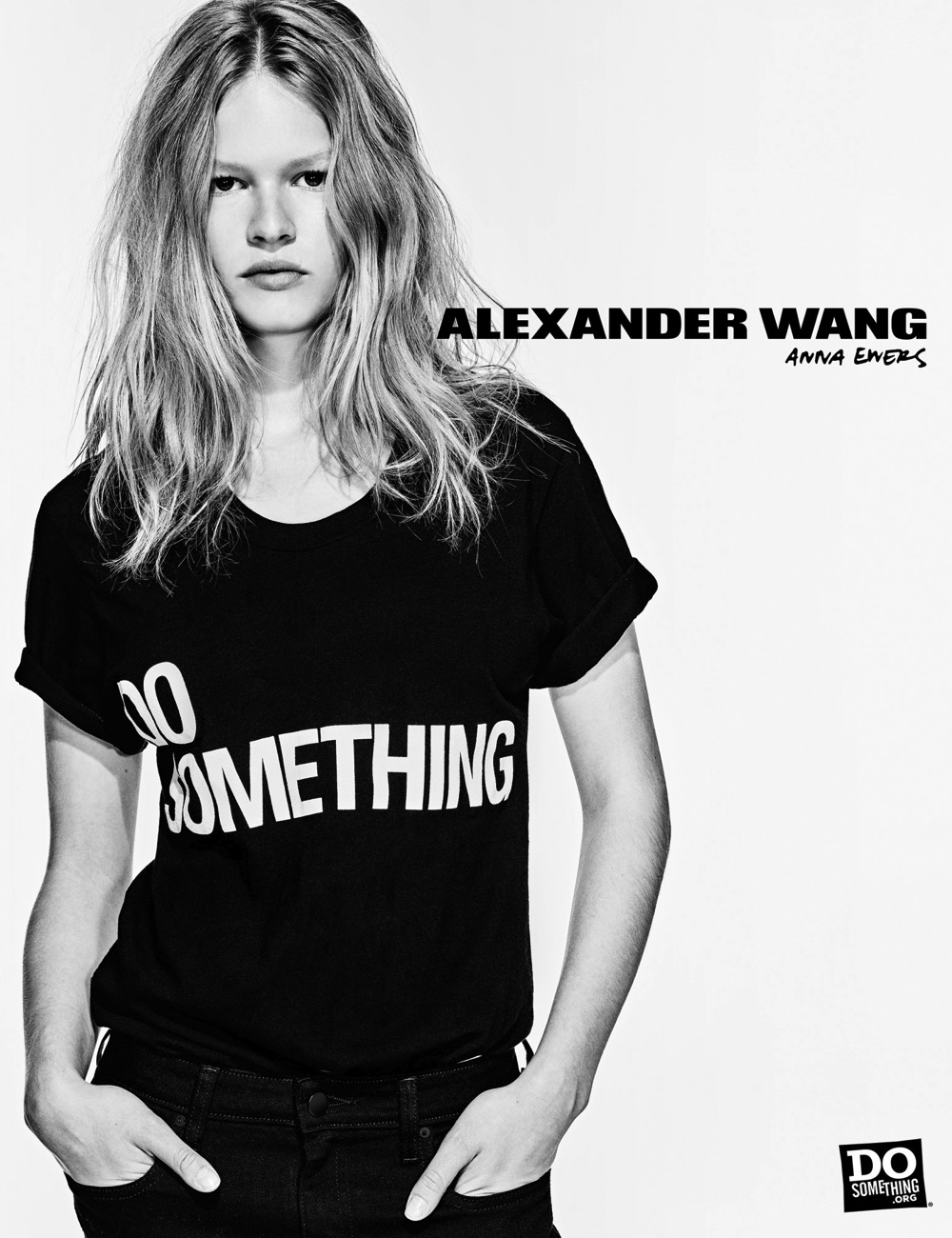 Anna Ewers wears Alexander Wang x DoSomething