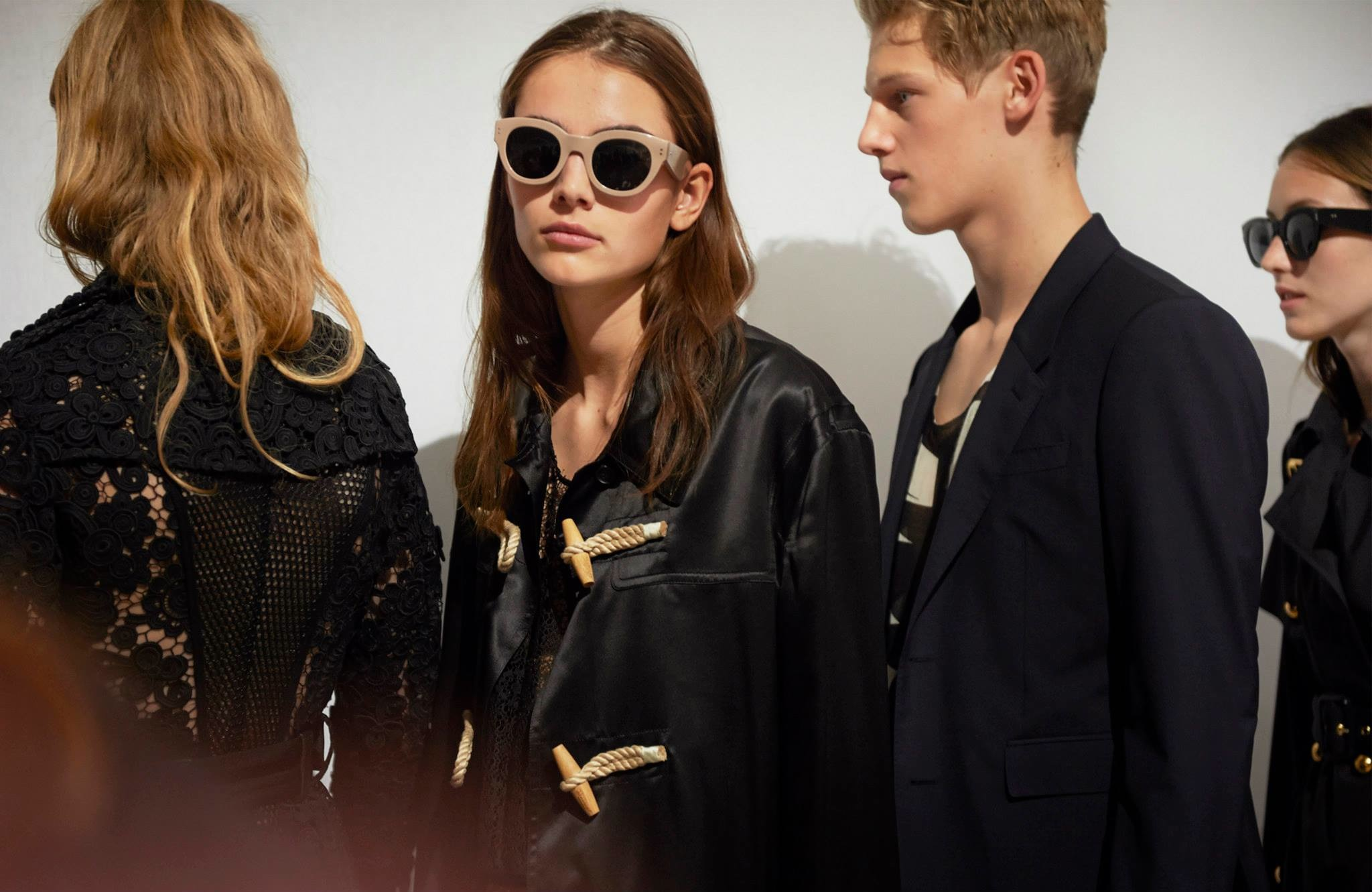 Backstage at the Burberry Prorsum Spring Summer 2016 Show 1