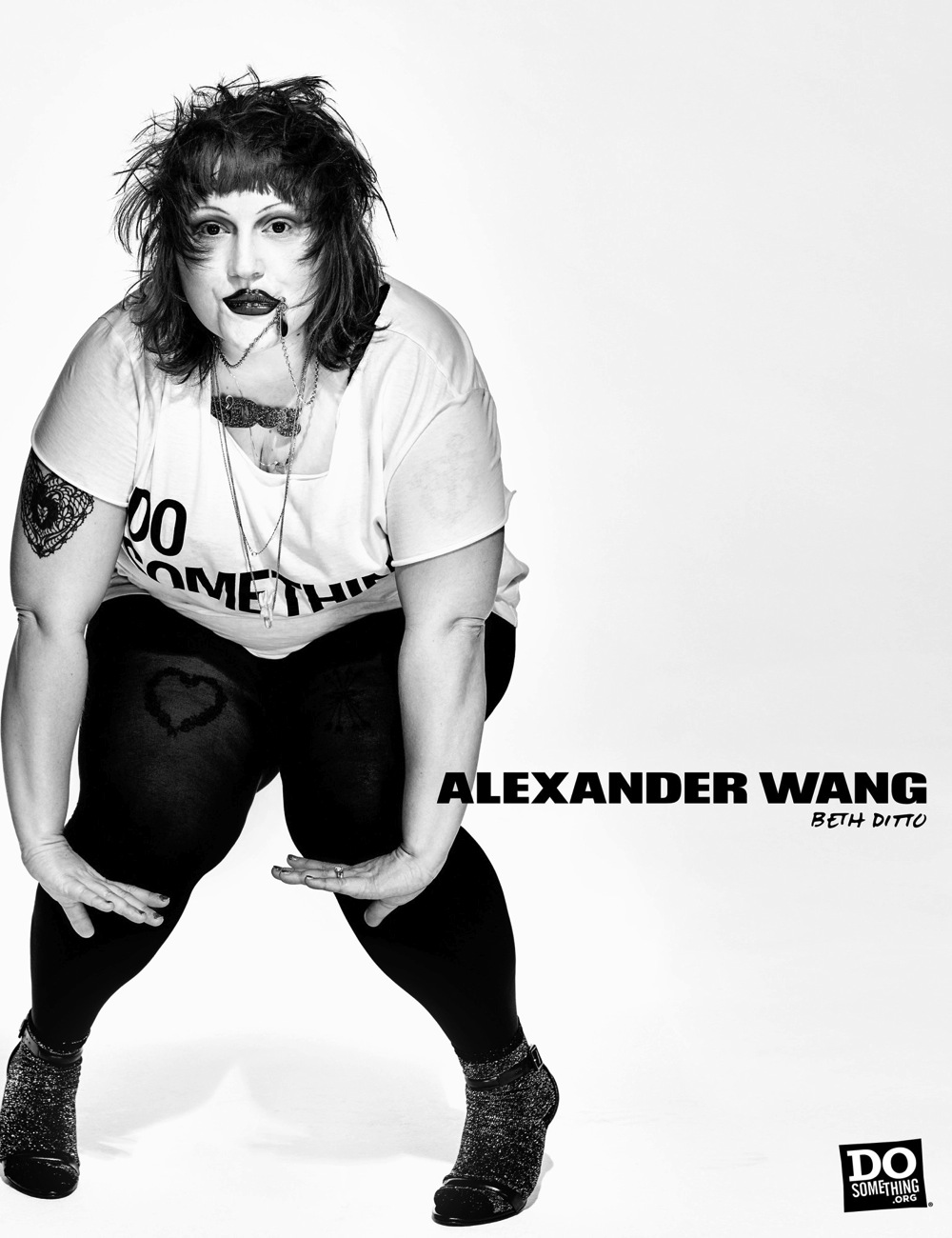 Beth Ditto wears Alexander Wang x DoSomething