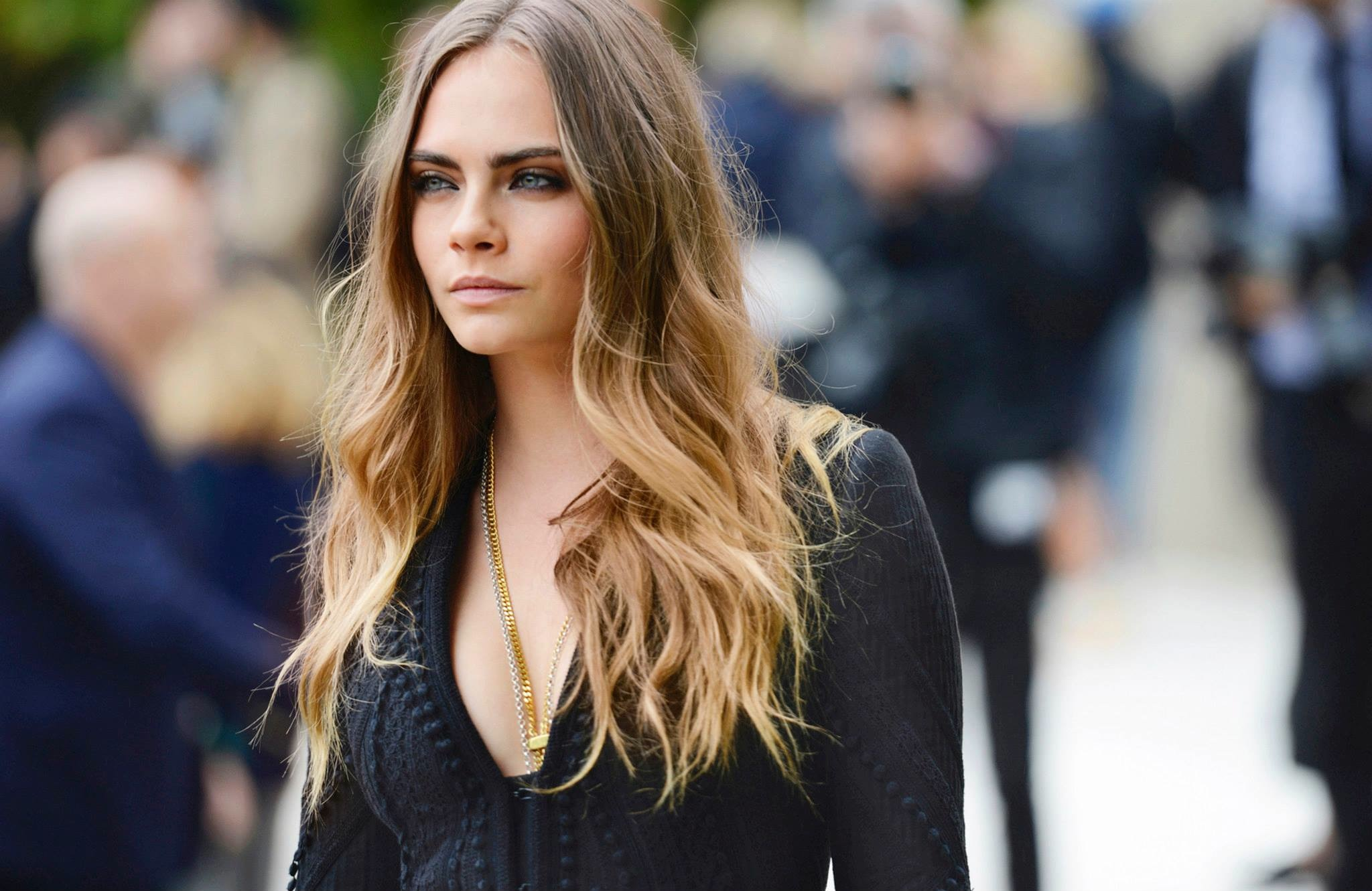 Cara Delevingne at the Burberry Prorsum Spring Summer 2016 Show