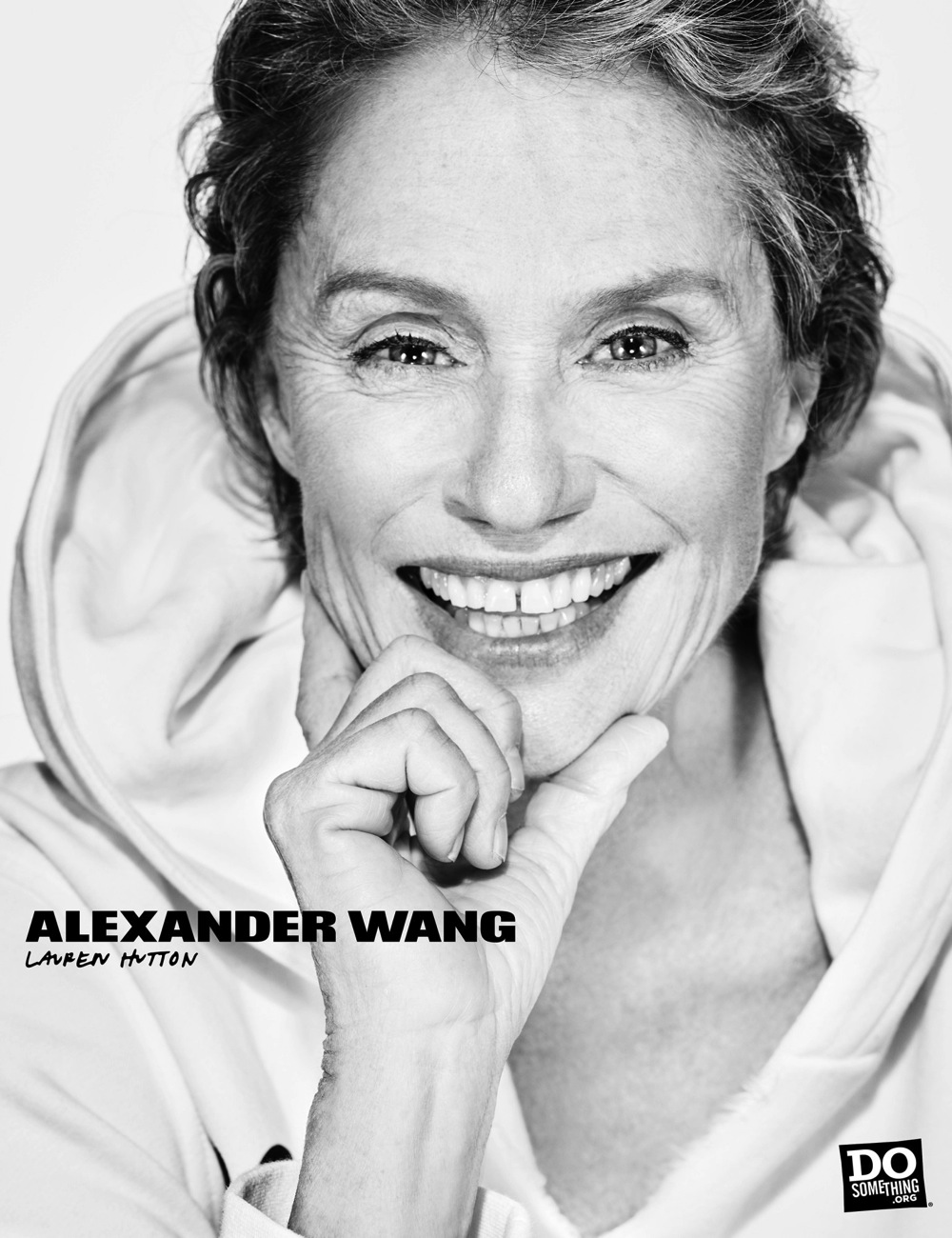 Lauren Hutton wears Alexander Wang x DoSomething